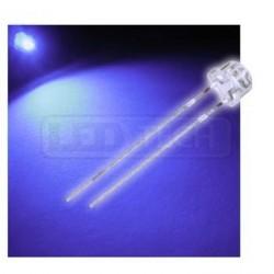 LED dioda 5mm UV straw hat 120°