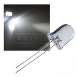 LED dióda 10mm studená biela round 30°