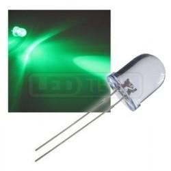 LED dióda 10mm zelená round 30°