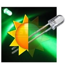 LED dióda 5mm zelená samoblikajúca 30°