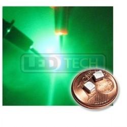 LED smd dióda 3528 PLCC-2 zelená - 700mcd / 120°