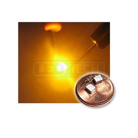 LED smd dióda 3528 PLCC-2 žltá - 170mcd / 120°