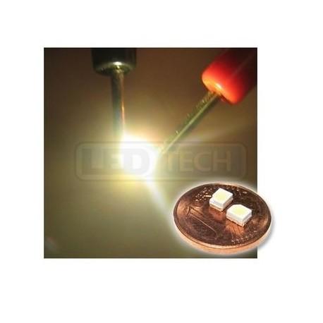 LED smd dióda 3528 PLCC-2 teplá biela - 1100mcd / 120°