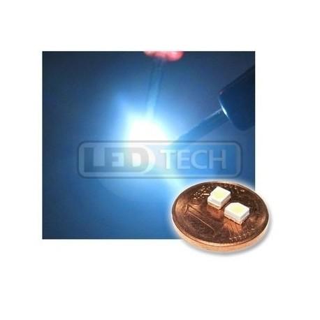 LED smd dióda 3528 PLCC-2 studená biela - 1300mcd / 120°