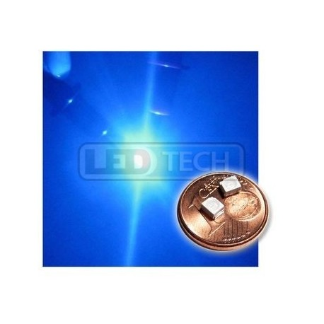 LED smd dióda 3528 PLCC-2 modrá - 200mcd / 120°