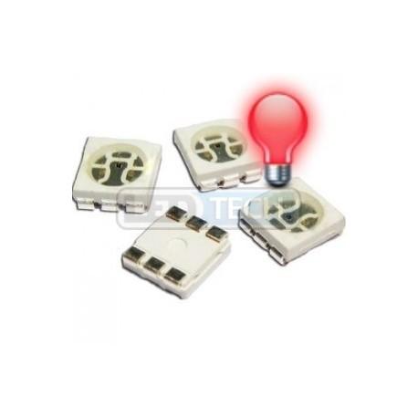 LED smd dióda 5050 červená 1000mcd 120°