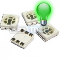 LED smd dióda 5050 zelená 5000mcd 120°