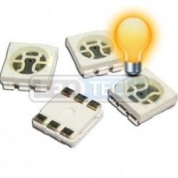 LED smd dióda 5050 žltá 1000mcd 120°