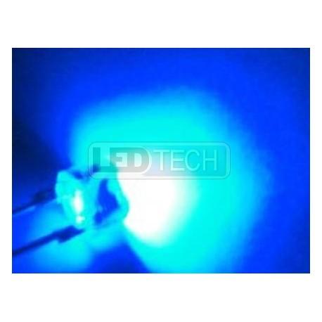 LED dióda 8mm straw hat 0.5W modrá