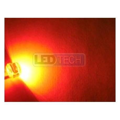 LED dióda 8mm straw hat 0.5W červená