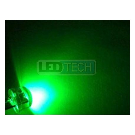LED dióda 8mm straw hat 0.5W zelená
