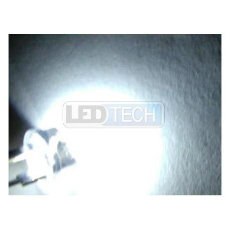 LED dióda 8mm straw hat 0.5W biela