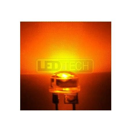 LED dióda 8mm straw hat 0.5W jantárová