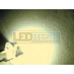LED dióda 8mm straw hat 0.5W teplá biela