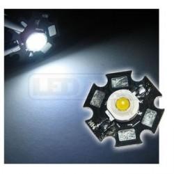 LED dióda 1W výkonová studená biela 6000-7000K