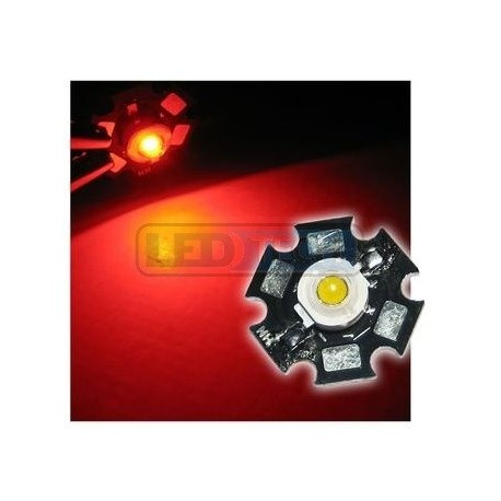 LED dióda 1W výkonová červená 625nm