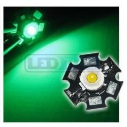 LED dióda 1W výkonová zelená 525nm