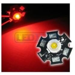 LED dióda 3W výkonová červená 625nm