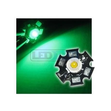 LED dióda 3W výkonová zelená 525nm