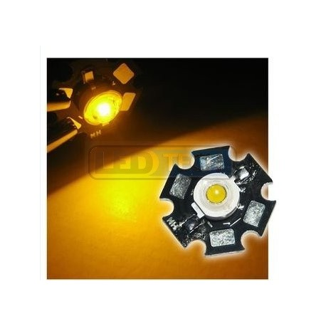 LED dióda 3W výkonová žltá 595nm