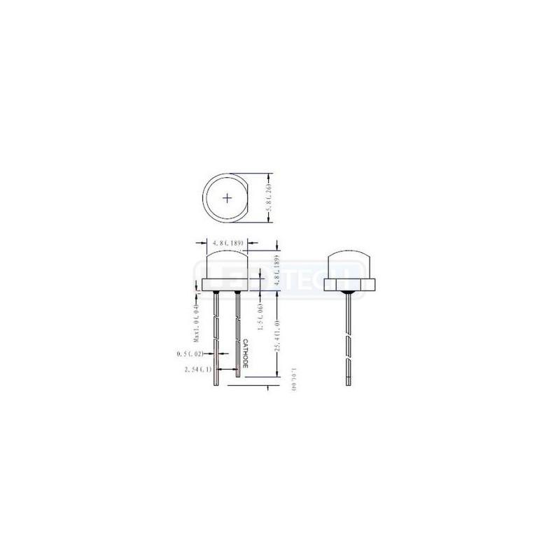 92202fec1 LED dióda 5mm teplá biela straw hat 120° - LEDtech.sk
